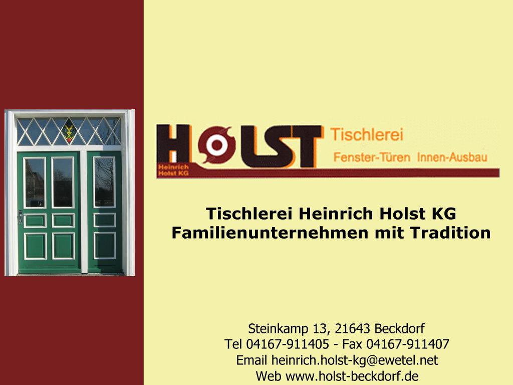 Tischlerei Holst